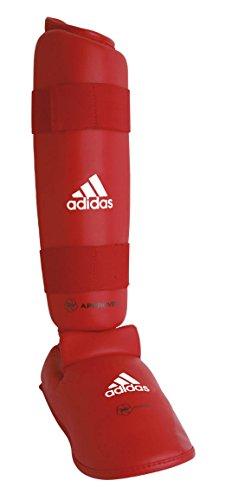 adidas Karate Schienbein-Spannschutz / Fuß Schoner rot, 2 Stück, Gr. XL