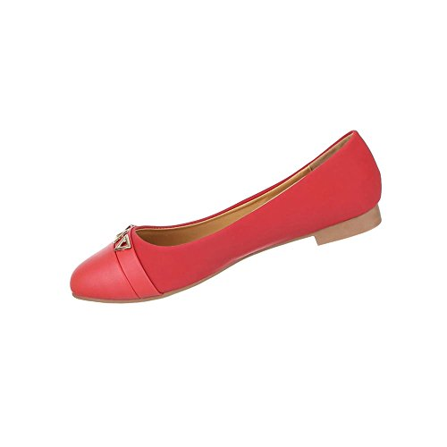 Damen Schuhe Pumps Mit Deko Besetzte Rot