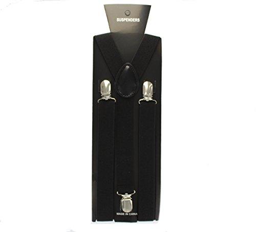 Adult 96 x 2.5cm Braces/ Suspenders Fancy Dress Accessory-Black