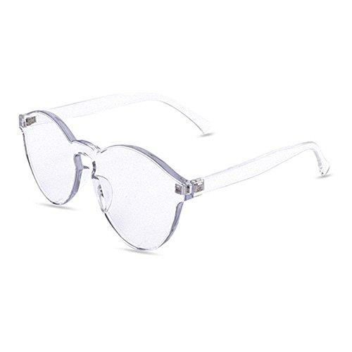 Aolvo rahmenlose Sonnenbrille, stilvoll und bunt, unisex durchsichtig