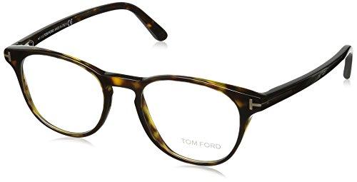 Tom Ford Unisex-Erwachsene FT5410 052 49 Brillengestelle, Braun (AVANA SCURA),