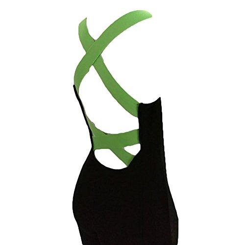 Femmes Fitness Pantalon Jumpsuit Bandage Pantalon de Survêtement Pantalon Femmes Sport Yoga Costume Survêtement Salopette Combinaison 8 Couleurs Vert 2