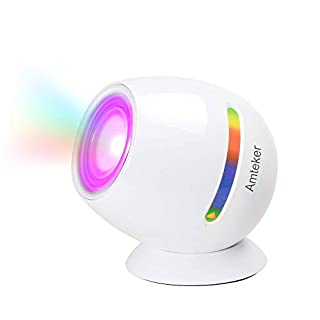 Amteker Living 256 Colors LED Light, Touch Pad Control Colorful Mood Rechargeable Micro Colour Changing Mood Light(White)