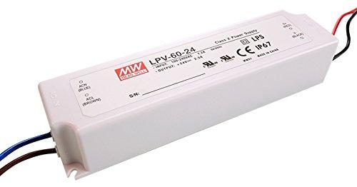 Meanwell fuente de alimentación, LPV-60-24, tensión constante, 110-240 V, AC/50-60 hz, 24 V, DC, 0-2, 5 A, 60 W 872615