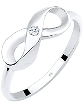DIAMORE Ring Infinity Unendlichkeit Diamant 0.03 ct. 925 Sterling Silber