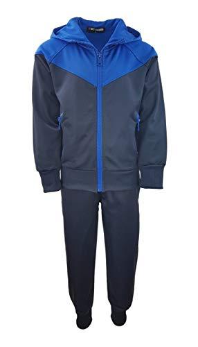 Sports Boy Jungen Trainingsanzug, Jogginganzug, Freizeitanzug in Blau, Gr. 110/116, JF11.6 11.6