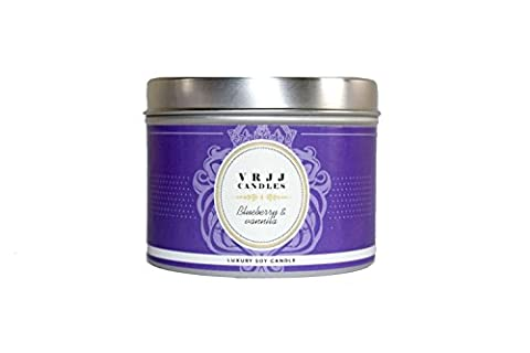 Blueberry & Vanilla, Candle, Bakery Scented Candle, Tin Candle, Scented
