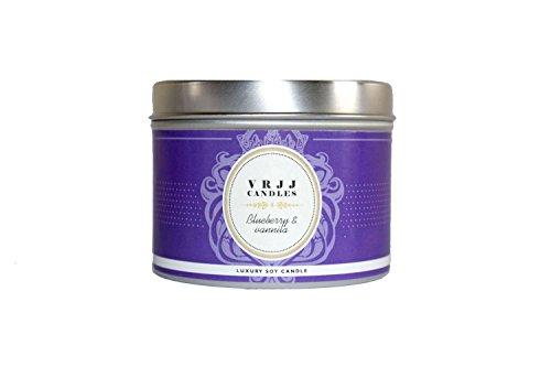 Vela perfumada VRJJ Candles ®, aroma de arándanos y vainilla