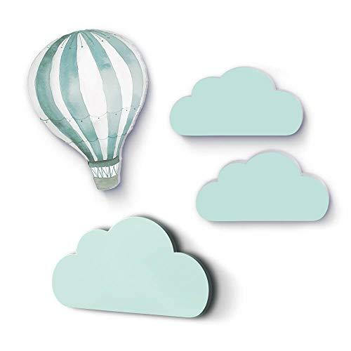 Wolkenset mit Heißluftballon ...