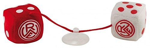 Rot-Weiss Essen Plüschwürfel / Autowürfel Fanartikel (Weiß Rot Und Shop)