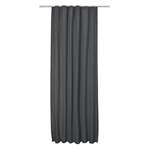 Beautissu Thermovorhang Amelie 140×245 cm Kräuselband Vorhang blickdicht & Verdunkelung – Gardine in Anthrazit-Grau - 4
