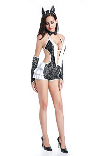 tische Dessous Spiel Uniform Versuchung Spitze Leopardenmuster Nackt ZurüCk Katze MäDchen StüCk Kleid Bar Bunny ()