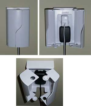 Twin Door Outlet Cover by Safety Innovations