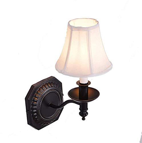 MTXLtd Wandfluter Lichter Lampen Lichter Scheinwerfer Beleuchtung Einzigen Scheinwerfer Vintage Korridor Nachttuch Einzigen Kopf - Schwarz Einzigen Licht-wandleuchte