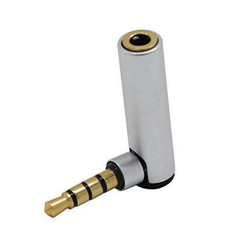 LouiseEvel215 1 stück 3,5mm Jack männlich zu weiblich l Form 90 Grad rechtwinklig Adapter Audio mikrofon Jack Stereo stecker stecker
