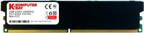 Komputerbay 2GB DDR2 PC2 8500 1066Mhz 240 Pin DIMM 2 GB - kommt mit Heat Spreader für zusätzliche Kühlung (Pc2-8500 Ddr2)