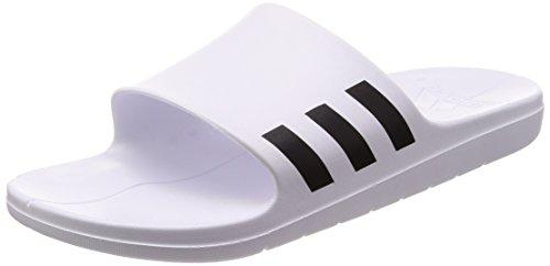adidas Aqualette, Scarpe da Spiaggia e Piscina Uomo Bianco (Ftwwht/cblack/ftwwht Cg3538)