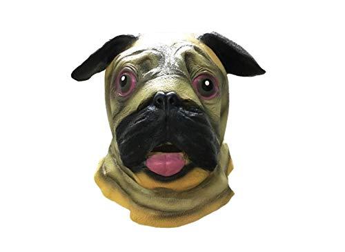 Underdog Kostüm - Maskerade Neuheit Halloween Super Bowl Underdog Kostüm Party Latex Tier Hundekopf Maske (Sharpei),A,A