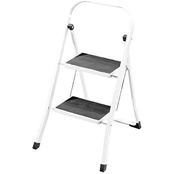 Heavy Duty Steel 2 Step Ladder Portable Compact Folding