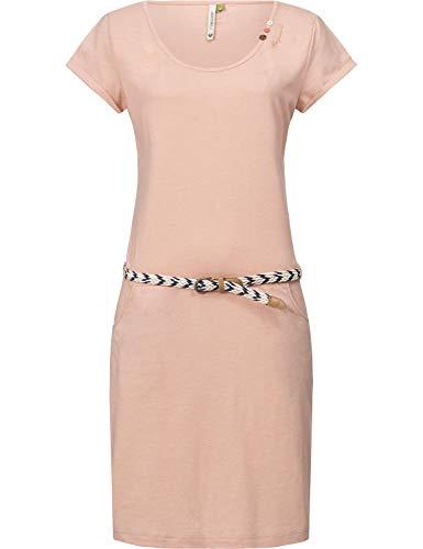 Druck-knie-länge-kleid (Ragwear Damen Kleid Dress Sommerkleid Strandkleid Jerseykleid Freizeitkleid Montana A Organic Rosa Gr. XS)