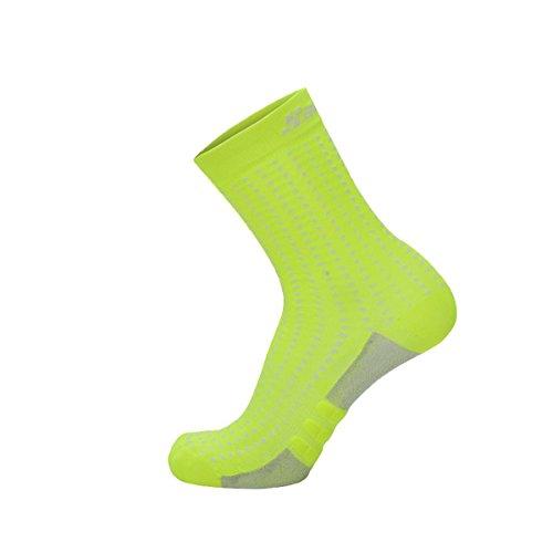 Santini Herren Origine Medium Socken, Gelb/Weiß, M