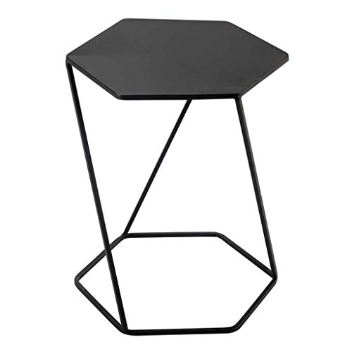 Table D'appoint Petite Table D'appoint Nordique Table D'appoint Mobile en Fer Forgé Canapé Noir Moderne