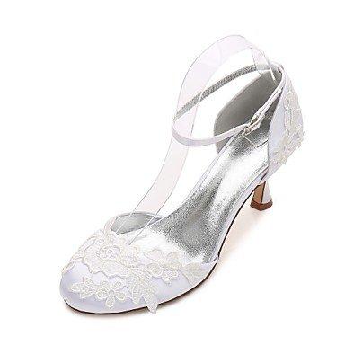 Zapatos De Boda Rtry Para Mujer Satin Comfort Spring Summer Wedding Party & Amp; Vestido De Noche Bowknot Rhinestone Heelivory Champagne Flat Blue Ruby Us7.5 / Eu38 / Uk5.5 / Cn38
