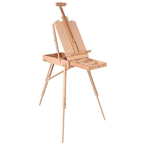 Caballete para Pintura, Caballete maletín de madera Trípode portátil pintor artista, Cuadro de Dibujo Tour de Primavera al Aire Libre or Calle (L)