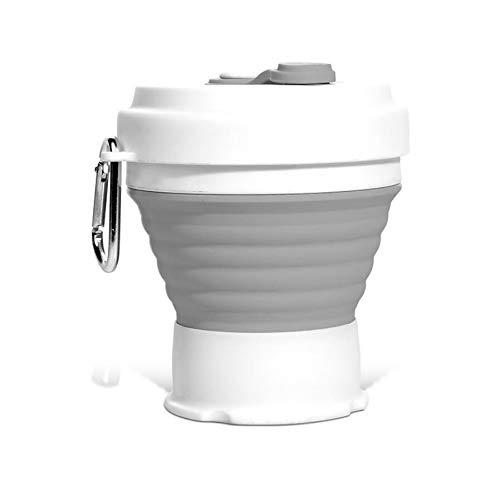 LIWEIL Grenzüberschreitende Faltbare Silikonkaffeetasse 350 ml Faltbare Silikonkaffeetasse Reiseteleskop-Wasserbecher