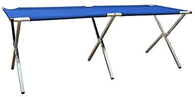 Eyepower Verkaufsstand 205x67x70cm Klappbarer Alu Marktstand Messestand Flohmarkt-Stand Verkaufstisch Verkaufstheke Blau von Omnideal bei TapetenShop
