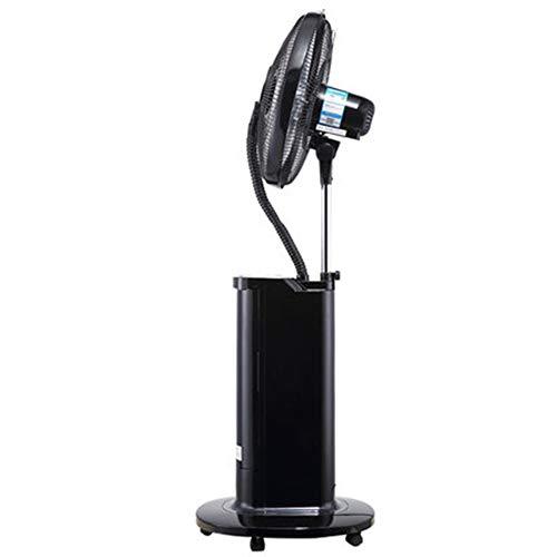 YARUCCO Fernbedienung Mobiles Lüfter Klimagerät,3-Stufiger Leiser Tragbarer Ventilator,Haushaltsgeräte Standlüfter Befeuchtung Lüfter Sprühlüfter,Für Heim Und Büro,Black -