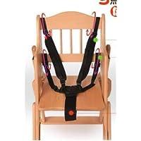 Correas de Silla Alta Arnés de Correa de Cinturón de Seguridad para Bebés Portátil de 5 Puntos para Niños Silla de Paseo Silla de Paseo Cochecito Cochecito