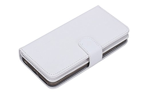 Iphone SE/5S/5 Case ,Tonerone Multi-function 6 Card Slots Detachable 2 in 1 Button-closure of Card Slots and Magnetic Flip Leather Wallet Case For Apple Iphone 5S/SE/5 4 Inch White White