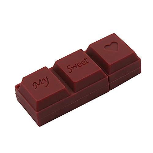 Shuda chiavette usb modello 32 gb,forma cioccolato san valentino 32b/16gb/64gb silicone flash usb pendrive stick usb (nero)