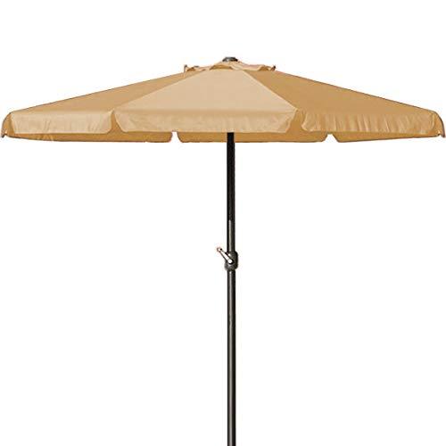 Deuba Sonnenschirm I 330cm I Aluminium I mit UV-Schutz 40+ I wasserabweisend I beige - Kurbelschirm Ampelschirm Marktschirm Gartenschirm Terrassenschirm