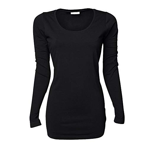 Tee Jays - Ladies Stretch Long Sleeve Extra Long M,Black