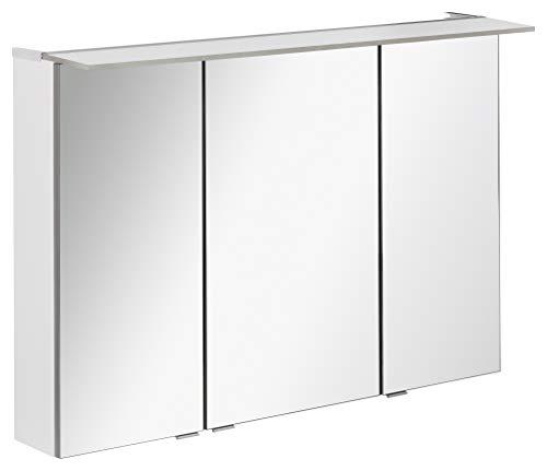 FACKELMANN LED Spiegelschrank B.PERFEKT/Badschrank mit Soft-Close-System/Maße (B x H x T): ca. 100 x 69 x 15 cm/hochwertiger Schrank mit Spiegel und Beleuchtung für das Bad/Korpus: Weiß