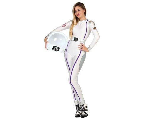 Atosa - 22990 - Disfraz Astronauta- talla M-L - Color Blanco para Mujer Adulto
