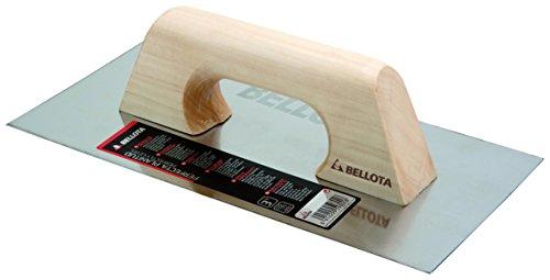 Bellota 5861-1 INOX Llana Recta Acero Inoxidable Mango Madera, 300x150 mm