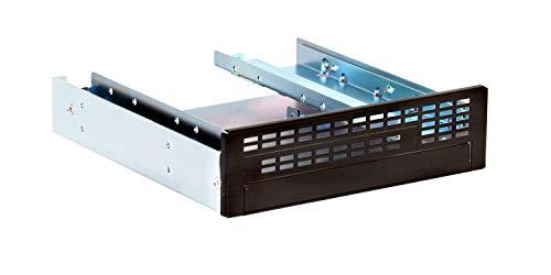 """GHA-FM04, 5,25 Zoll (5,25"""") Front Panel Adapter mit Lüftungsschlitzen, Einbaurahmen für 1 x Slim CD-ROM/1xSlim FDD/1x 2,5 Zoll (2,5"""") in 1 x 5,25 Zoll (5,25"""") Einbauschacht, offen, schwarz"""