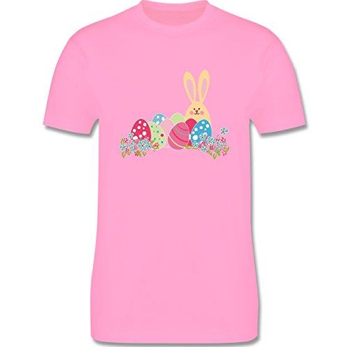 Ostern - Osterhase mit Eiern - Herren Premium T-Shirt Rosa