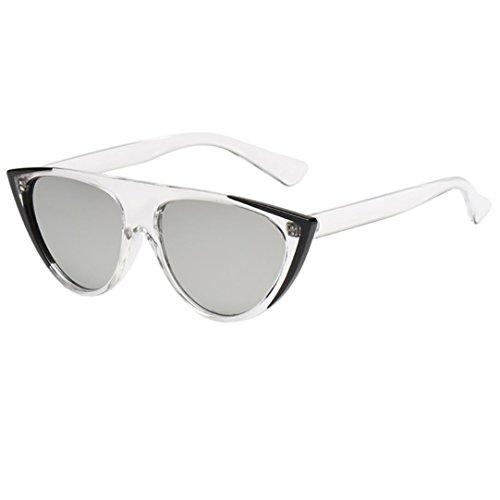 Btruely Herren_Gafas de Sol Hombre Super Cat Eye Triangle Gafas de Sol Mujer polarizadas Aviador Unisex Gafas de Sol Vintage Sunglasses Retro de Verano de Viaje (H)