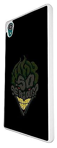 002766 - So Serious Joker Smiling Hero Design Sony Xperia Z5 Coque Fashion Trend Case Coque Protection Cover plastique et métal - Blanc