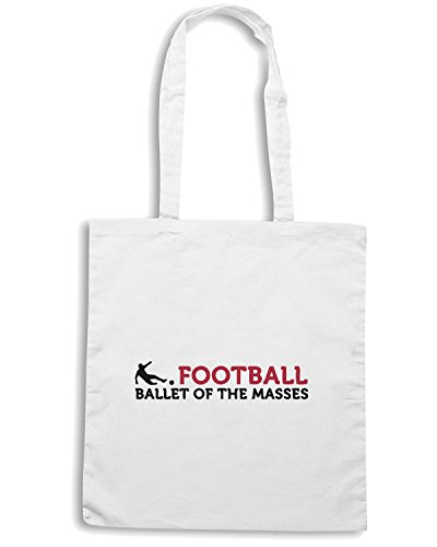 T-Shirtshock - Borsa Shopping WC0345 Football - Ballet of the Masses Bianco