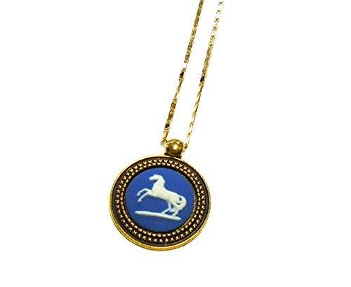 'Wedgwood Pferd Bucking Halskette vergoldet Wedgewood Jasperware