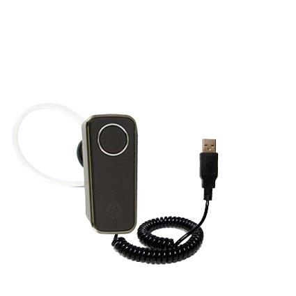 Aufgewickeltes Hot-Synk USB-Kabel für Motorola H681 Cradle mit den Funktionen Datentransfer und Aufladen Mit TipExchange Technologie ausgerüstet (1 Cradle Hot Sync)