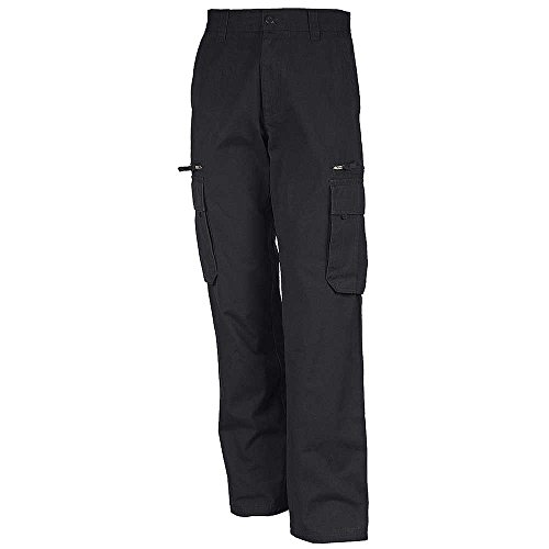 Kariban Mens Heavy Canvas Work Trousers Dark Grey