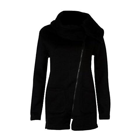 Reaso Femme Hiver Manteau Veste à Capuche Hoodie Sport Sweat shirt Casual Sweatshirt Jumper Sport Hauts Tops Pullover Blouse Blouson (L, Noir B)