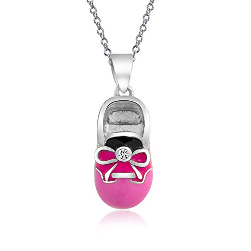Rosa Sattel Schuhe - Bling Jewelry Persönliches Baby Schuh Charm