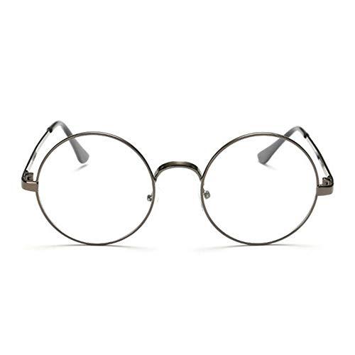 XCYQ Brillengestell Runde Brillengestell Klare Linse Frauen Männer Brillen Optic Frame Eyewear Vintage Spectacles, D